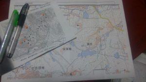 地図をもっていざ現地へ。